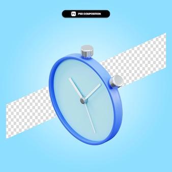 Ilustração da renderização 3d do cronômetro isolada