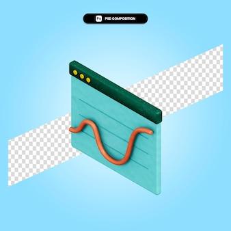 Ilustração da renderização 3d do gráfico de negócios isolada