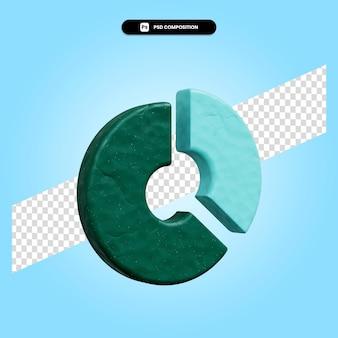 Ilustração da renderização 3d do gráfico de pizza isolada