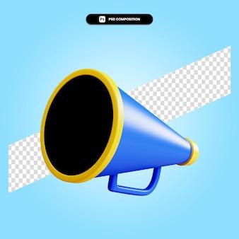 Ilustração da renderização 3d do megafone isolada