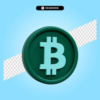 Ilustração da renderização 3d do sinal bitcoin isolada
