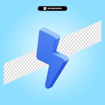 Ilustração da renderização 3d do thunderbolt isolada