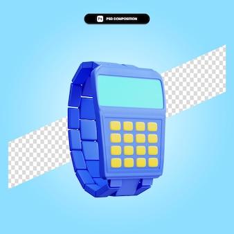 Ilustração da renderização 3d retro do relógio de pulso isolada