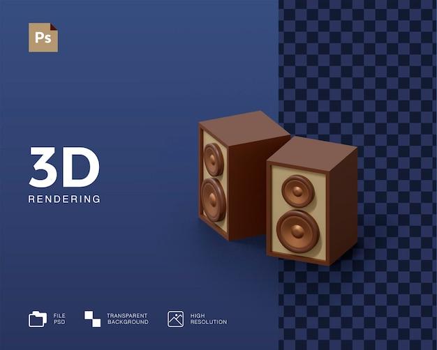 Ilustração de alto-falante de áudio 3d