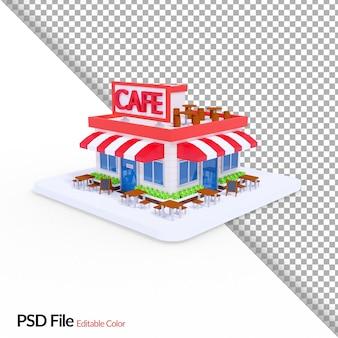 Ilustração de café em renderização 3d