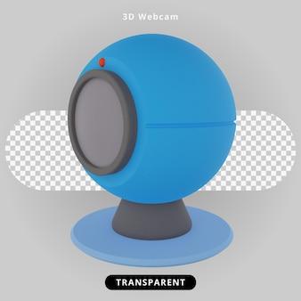Ilustração de computador com webcam de renderização 3d