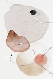 Ilustração de desenho de círculos coloridos em aquarela abstrata