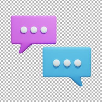 Ilustração de design de bolha de bate-papo 3d