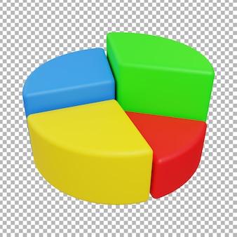 Ilustração de design de gráfico de pizza 3d