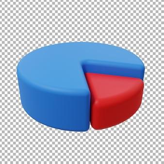 Ilustração de design de gráfico de pizza de ativos 3d