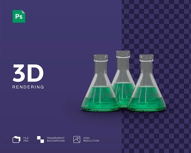 Ilustração de equipamento de laboratório