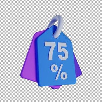 Ilustração de etiqueta de venda 3d