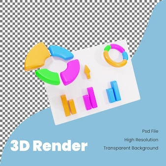 Ilustração de gráfico de apresentação de renderização 3d