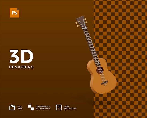 Ilustração de guitarra 3d