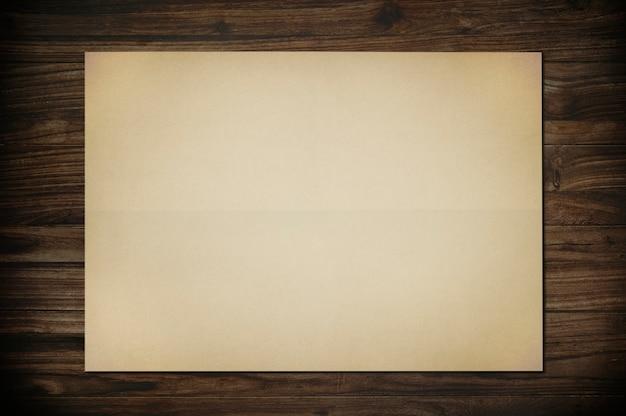 Ilustração de maquete de papel vintage