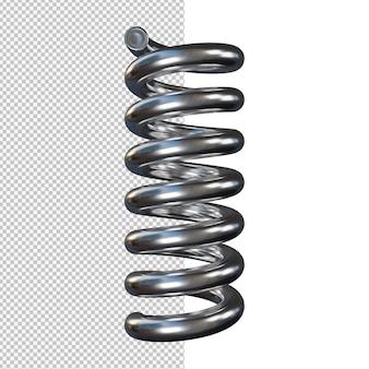 Ilustração de mola de choque de aço isolada