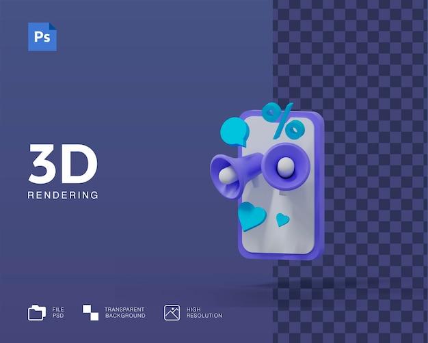 Ilustração de promoção 3d