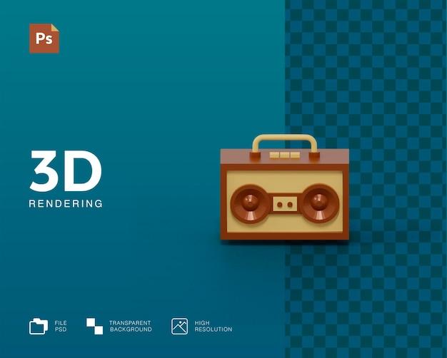 Ilustração de rádio 3d