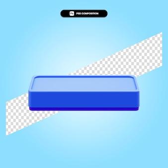 Ilustração de renderização 3d com borracha de quadro isolada