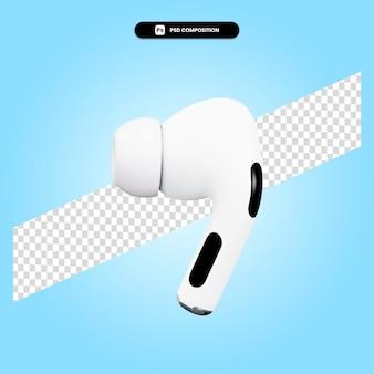 Ilustração de renderização 3d do fone de ouvido isolada