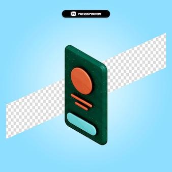 Ilustração de renderização 3d do perfil móvel isolada