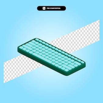 Ilustração de renderização 3d do teclado isolada