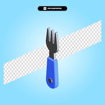 Ilustração de renderização 3d isolada