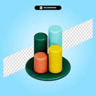 Ilustração de renderização gráfica 3d isolada
