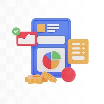Ilustração do conceito de design do site