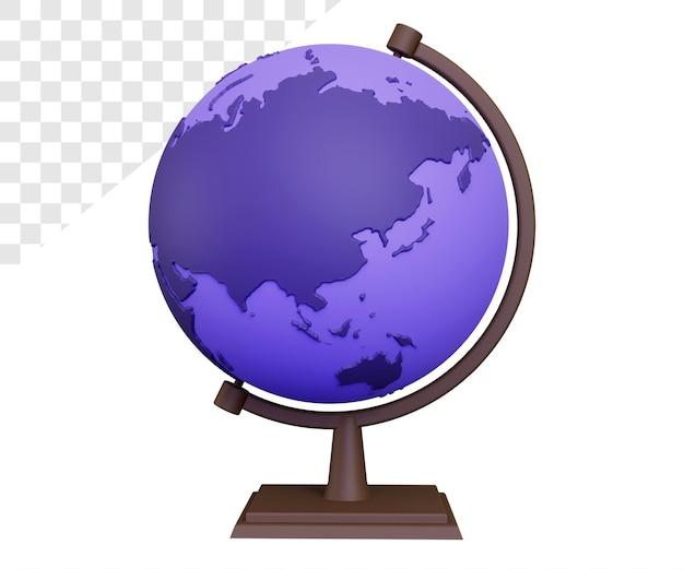 Ilustração do conceito de globo 3d