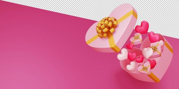 Ilustração do conceito dos namorados em renderização 3d