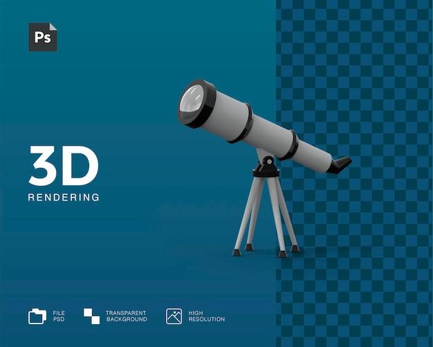 Ilustração do telescópio 3d