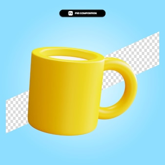 Ilustração em 3d da xícara de chá isolada