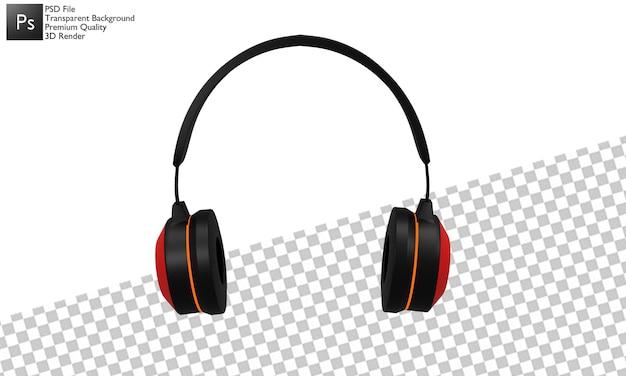 Ilustração em 3d para fone de ouvido