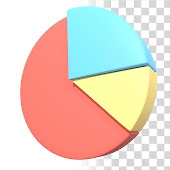 Ilustração em gráfico de pizza 3d