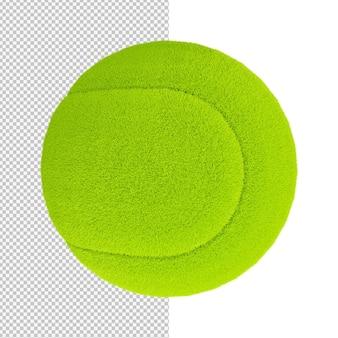 Ilustração isolada de bola de tênis