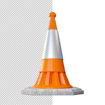 Ilustração isolada de cones de trânsito