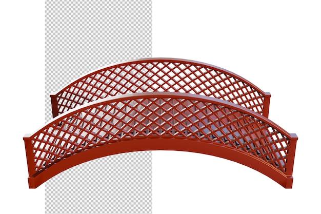Ilustração isolada de ponte de madeira