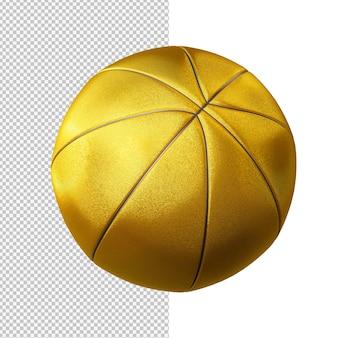 Ilustração isolada do basquete dourado