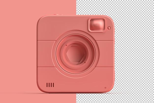 Ilustração minimalista de câmera instantânea quadrada