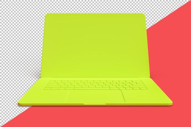 Ilustração minimalista de um laptop