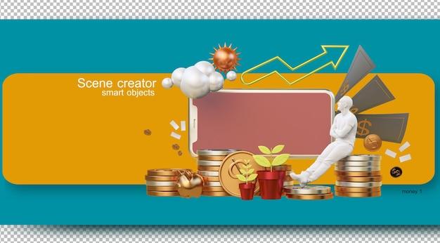 Ilustrações de gestão financeira da vida diária