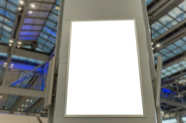 Imagem da maquete de cartazes de outdoor em branco e levou na estação terminal de aeroporto para publicidade