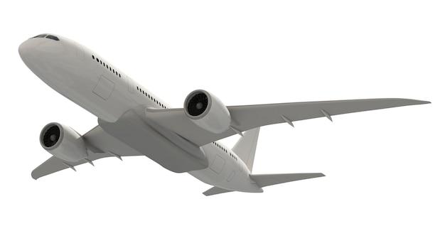 Imagem tridimensional de um avião