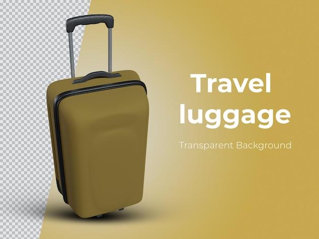 Imagens de bagagem de viagem renderizadas em 3d de vista superior