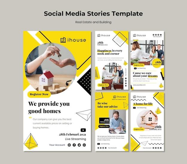 Imobiliário e construção de histórias de mídia social
