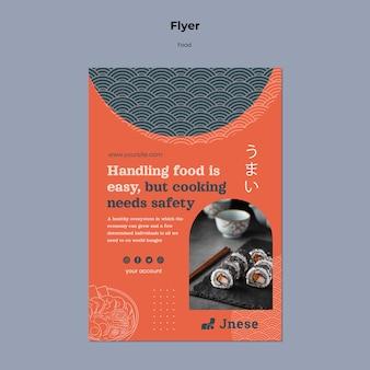 Impressão de modelo de segurança de cozinha com foto