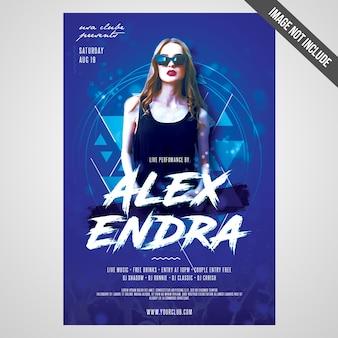 Imprimir pronto flyer evento do artista cmyk / poster com objetos editáveis