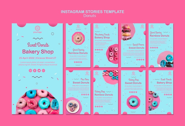 Inauguração arco-íris rosquinhas instagram stories