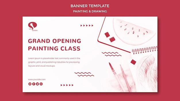 Inauguração: modelo de banner para desenho e pintura